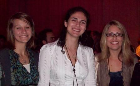 Emily, Danusa, and Dr. Padgett at Conference Banquet (2010)